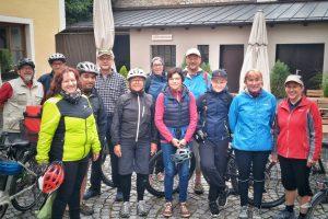 Mitglieder der Bürgerliste bei der Radtour 2019